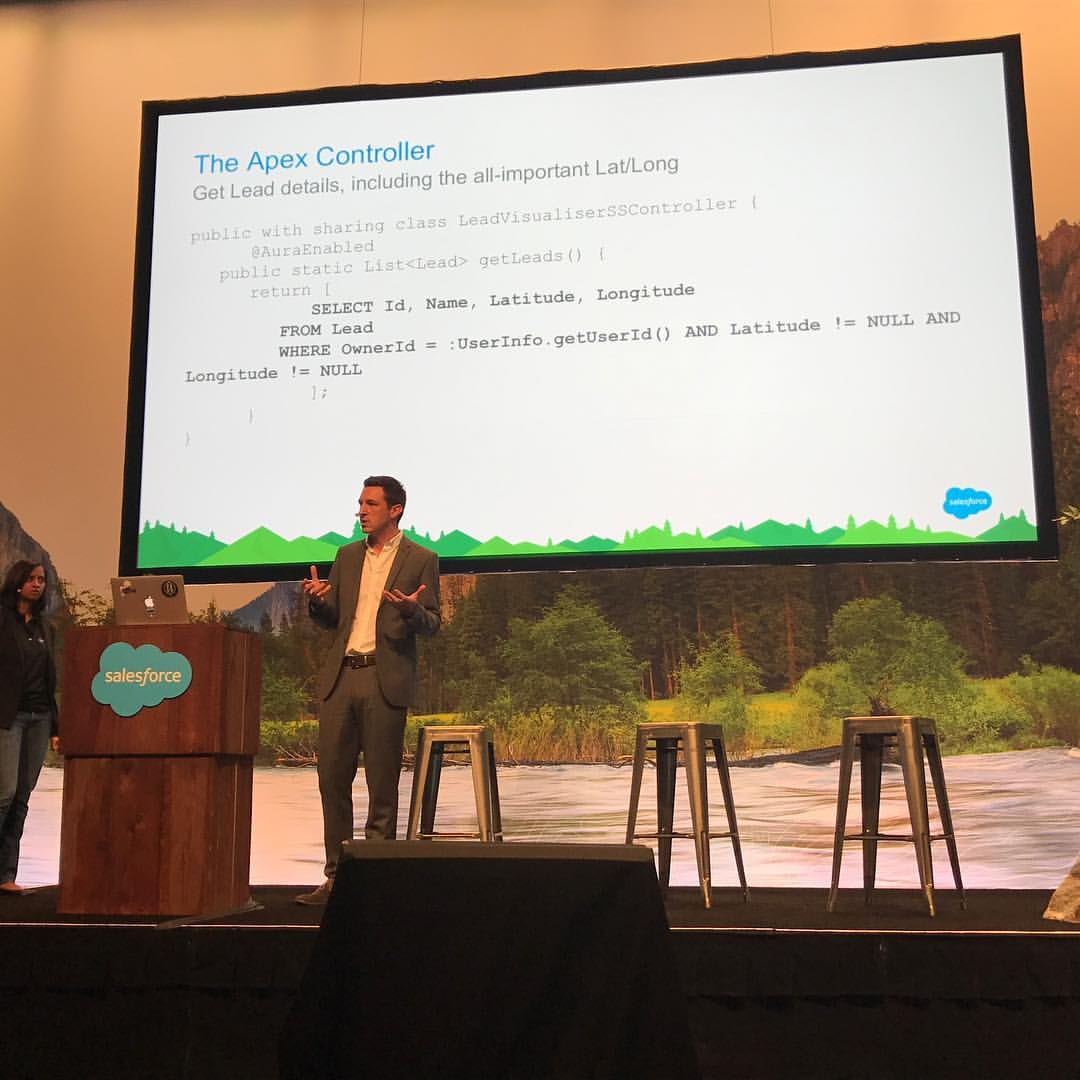 Me, presenting at Dreamforce
